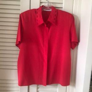 Gerard Pasquier vintage ladies blouse button front